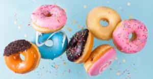 Birthday doughnuts